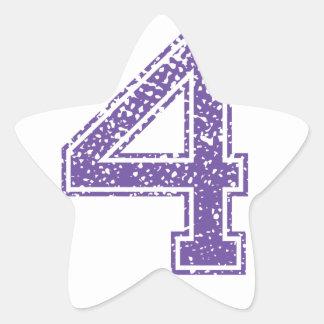 Purple Sports Jerzee Number 04.png Star Sticker