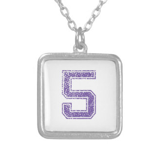 Purple Sports Jerzee Number 05.png Custom Necklace