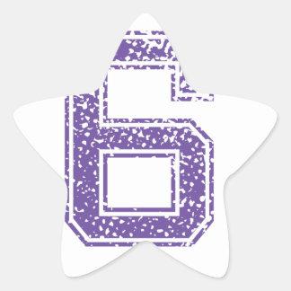 Purple Sports Jerzee Number 06.png Star Sticker