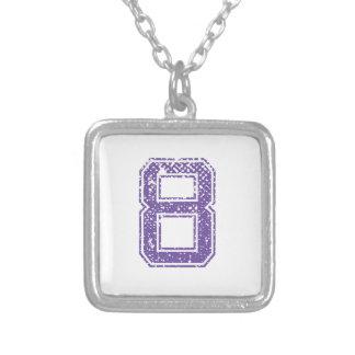 Purple Sports Jerzee Number 08.png Pendants