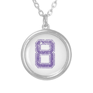 Purple Sports Jerzee Number 08.png Personalized Necklace