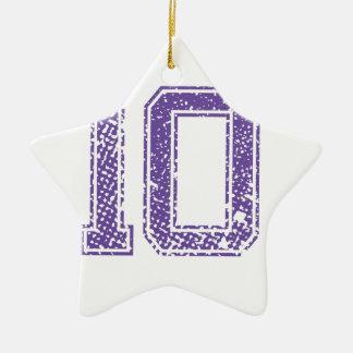 Purple Sports Jerzee Number 10.png Ceramic Star Decoration