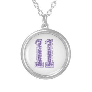 Purple Sports Jerzee Number 11.png Pendant