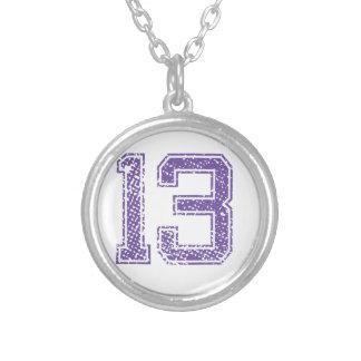 Purple Sports Jerzee Number 13.png Custom Jewelry