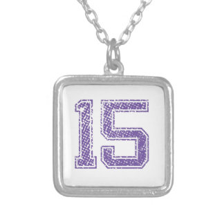 Purple Sports Jerzee Number 15.png Personalized Necklace