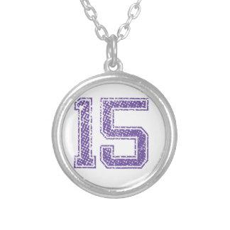 Purple Sports Jerzee Number 15.png Custom Jewelry