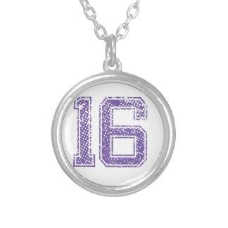 Purple Sports Jerzee Number 16.png Pendants