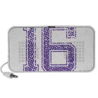 Purple Sports Jerzee Number 16.png Mini Speakers