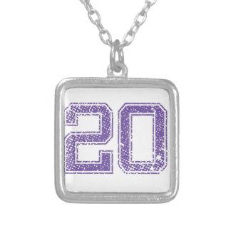 Purple Sports Jerzee Number 20.png Pendant