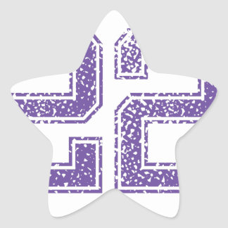 Purple Sports Jerzee Number 22.png Star Sticker