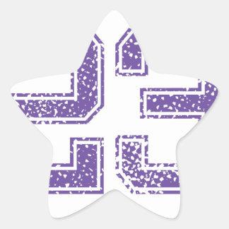 Purple Sports Jerzee Number 23.png Star Sticker