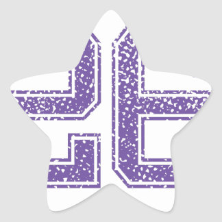 Purple Sports Jerzee Number 26.png Star Sticker