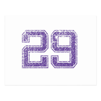 Purple Sports Jerzee Number 29.png Postcard