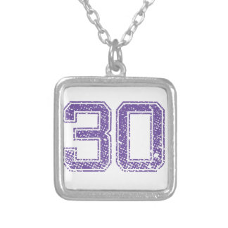 Purple Sports Jerzee Number 30.png Jewelry