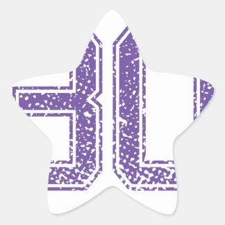 Purple Sports Jerzee Number 30.png Star Sticker