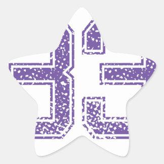 Purple Sports Jerzee Number 33.png Star Sticker