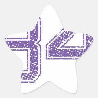 Purple Sports Jerzee Number 34.png Star Sticker