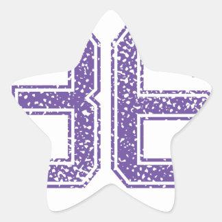 Purple Sports Jerzee Number 36.png Star Sticker