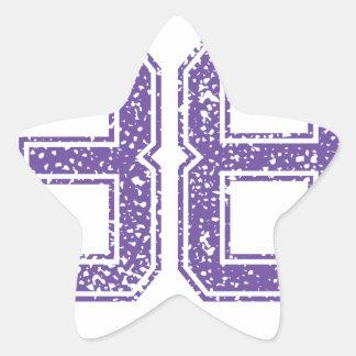 Purple Sports Jerzee Number 38.png Star Sticker