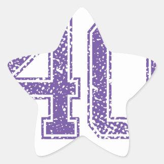 Purple Sports Jerzee Number 40.png Star Sticker