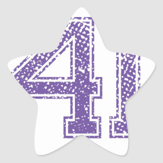 Purple Sports Jerzee Number 41.png Star Sticker