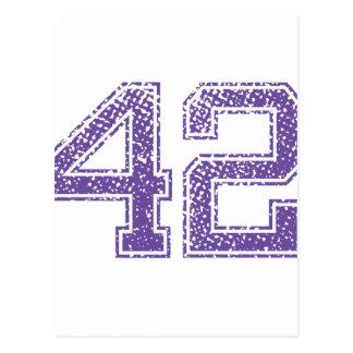 Purple Sports Jerzee Number 42.png Postcard