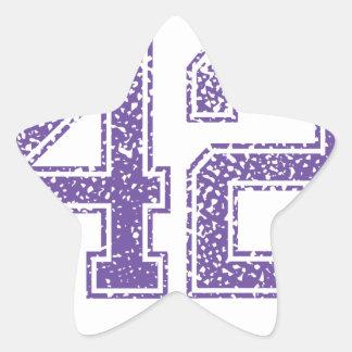 Purple Sports Jerzee Number 42.png Star Sticker