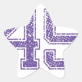Purple Sports Jerzee Number 45.png Star Sticker