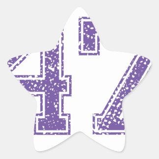 Purple Sports Jerzee Number 47.png Star Sticker