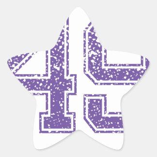Purple Sports Jerzee Number 49.png Star Sticker