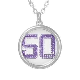 Purple Sports Jerzee Number 50.png Custom Necklace