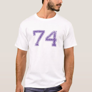 Purple Sports Jerzee Number 74.png T-Shirt