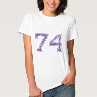 Purple Sports Jerzee Number 74.png T Shirts
