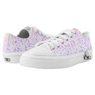 Purple Spots Low Tops Printed Shoes