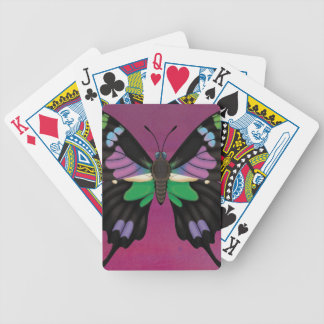 Purple Spotted Swallowtail Bicycle Playing Cards