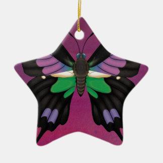 Purple Spotted Swallowtail Ceramic Ornament