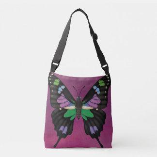 Purple Spotted Swallowtail Crossbody Bag
