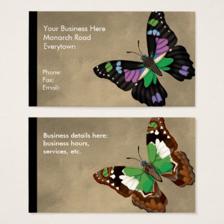 Purple Spotted Swallowtail Dorsal and Ventral Business Card