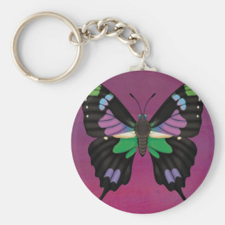 Purple Spotted Swallowtail Key Ring