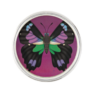 Purple Spotted Swallowtail Lapel Pin