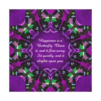 Purple Spotted Swallowtail Mandala Canvas Print