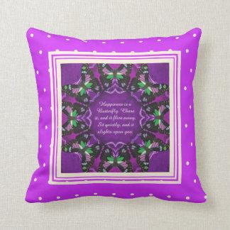 Purple Spotted Swallowtail Mandala Cushion