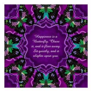 Purple Spotted Swallowtail Mandala Poster