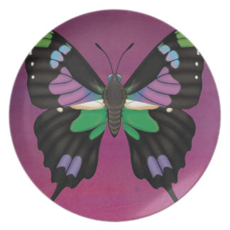 Purple Spotted Swallowtail Plate