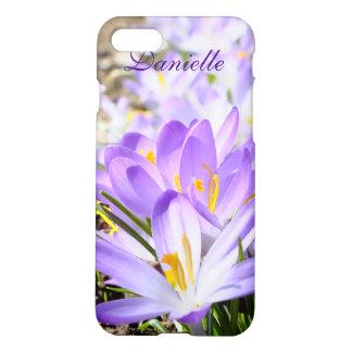 Purple Spring Crocus iPhone 7 Case