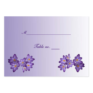 Purple Spring Floral Wedding Escort Card Business Card