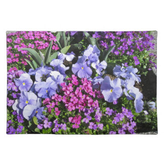 Purple Spring Flowers Place Mats