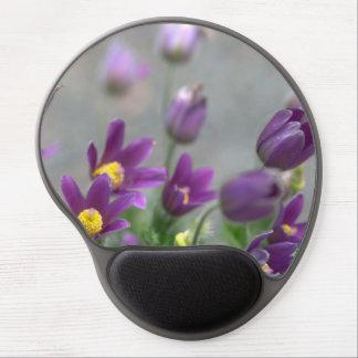 Purple Spring Flowers Gel Mouse Pad