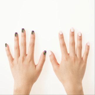 Purple Spring Flowers Minx ® Nail Art