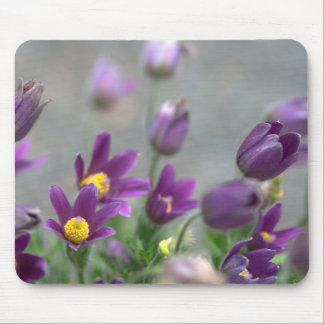 Purple Spring Flowers Mousepad
